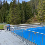Montage und einrichten Abdeckplane Aquafitbecken...