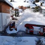 ...anschließend Schneeräumung mit Rolba 1500