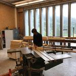Geländerbau für Brücke Wanderweg Zürs-Lech in der Tischlerei