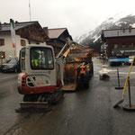 Straßenbankett-Reparaturarbeiten, TB 216 und U1600