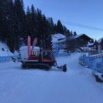 ...und Verschubarbeiten für Skischule Lech Kindersammelplatz