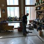 Werkstatt aufräumen