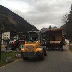 Radhütte Haus des Kindes zum Bauhof bringen
