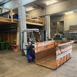 Containerbau Traktor für Müllrunde Zugertal