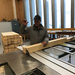 Geländerbau in der Tischlerei für Loipe Omesberg