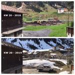 Schneevergleich zu Kalenderwoche 20 im Jahr 2018