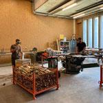 Grillholzproduktion in der Tischlerei