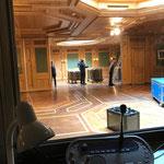Europaforum, Ab- und Rückbau im Hotel Post