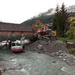 Baggerarbeiten Sohle Lechbach, Transportfahrten mit U530