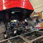 Motoreinbau Unimog 1600
