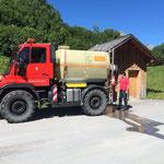 Leitungen spülen mit U400, WC-Anlagen Spullersee