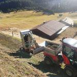 Wegesanierungsarbeiten für Winterwanderweg Zuger Höhenweg, mit TB216...