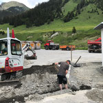 Jugendplatz: Arbeiten für Wasser- und Stromleitungen