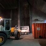 Containertransport Tunnel Oberlech - Bauhof