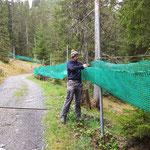 Netze Stierloch abhängen