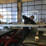 Konstruktionsarbeiten für neuen Streueraufbau