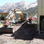 Arbeiten rund um den neuen Lüftungs- und Müllraum Gasthaus Älpele