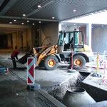 Leitungsbau Bauhof-Vorplatz, Schacht setzen