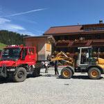 Rückbau Musikantentag, verladen der Hütten, mit L509 und U400
