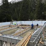 Vorbereitungsarbeiten Betonieren Sportbecken