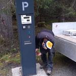Waldbad: Parkautomaten abbauen
