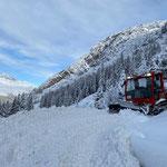 Rampenbau Winterwanderweg Zürs, mit Snow Rabbit 3
