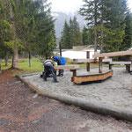 Aufbau Spielplatz Waldbad