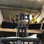 Feste-Lager aufräumen am Bauhof