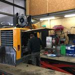 Service  am Fräsenmotor Lader 509