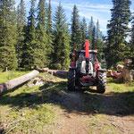 Forstarbeiten Zugertal, mit Steyr 6190 CVT und Epsilonkran