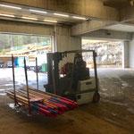 Wege und Loipen abräumen, Stangenmanagement am Bauhof