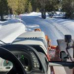 Steyr 6190 CVT mit Prismenwalze Winterwanderweg Älpele