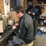 Blechdachbefestigungen für Bauhof Flugdach vorbereiten