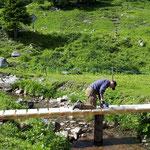 Brücke sanieren Alpe Dalasser Staffel