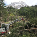Forsteinsatz Lawinenwurf Birchet, Zug
