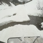 Winterwanderweg Zürs - Lech, mit Snow Rabbit 3 vor Sperre