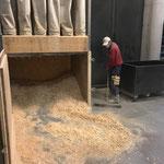 Absauganlage leeren am Bauhof