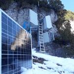Solarpanel austauschen Lawinenorgel Monzabonwände