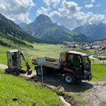 Wegsanierung nach Regenfällen Alpstall Anger