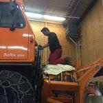Rolba 1500 Instandsetzung - Hydraulik montieren