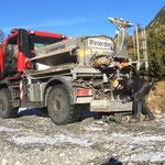 Winterwanderwege: vereiste Stellen splitten