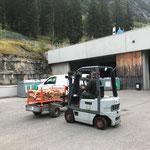 Grillstellen-Pflege, Holz laden am Bauhof