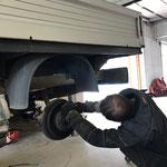 VW Pritsche lang, Bremsbeläge erneuern