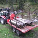 Bachübergang Loipe abbauen