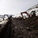 Leitungsarbeiten Skiweltcup Zürs, Trittkopfparkplatz