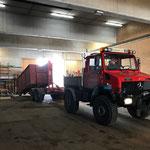 Holzcontainer aufziehen mit Bigabhänger und U1600