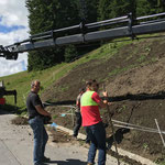Humusierungsarbeiten alter Wasserhochbehälter Oberlech...