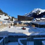 Fräs- und Schneeräumarbeiten Baustelle Gemeindezentrum