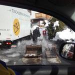 Hydrant aufgrund Frostschaden demontieren