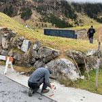 Stromkabel verlegen für Schrankenanlage sport.park.lech